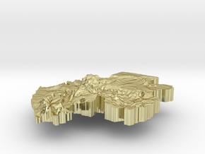Gabon Terrain Silver Pendant in 18K Gold Plated