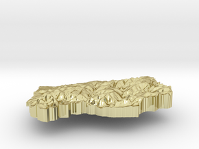 Lesotho Terrain Silver Pendant in 18K Gold Plated