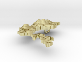 Philippines Terrain Silver Pendant in 18K Gold Plated