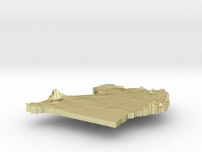 Uganda Terrain Silver Pendant in 18K Gold Plated