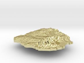 Uruguay Terrain Silver Pendant in 18K Gold Plated