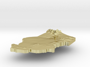 Chad Terrain Silver Pendant in 18K Gold Plated