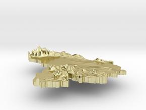 Venezuela Terrain Silver Pendant in 18K Gold Plated