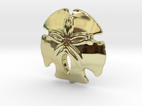Sand Dollar Pendant in 18K Gold Plated