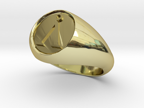 Stargate Earth symbol signet ring s 11 (20.93 mm) in 18K Gold Plated