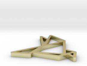 Pendant Origami Dove in 18K Gold Plated