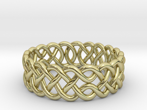 Celtic Ring - 16mm ⌀ in 18K Gold Plated