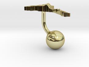 Eritrea Terrain Cufflink - Ball in 18K Gold Plated