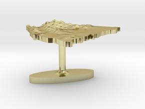 Nicaragua Terrain Cufflink - Flat in 18K Gold Plated
