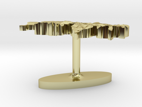 Switzerland Terrain Cufflink - Flat in 18K Gold Plated