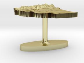 Ethiopia Terrain Cufflink - Flat in 18K Gold Plated