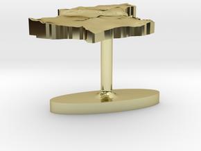 Luxembourg Terrain Cufflink - Plate in 18K Gold Plated