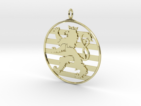 Roude Leiw Pendant - Circle  Frame in 18K Gold Plated