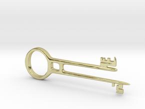 Davy Jones Key Pendant in 18K Gold Plated