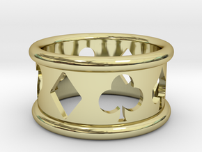 Card Suit Ring in 18K Gold Plated