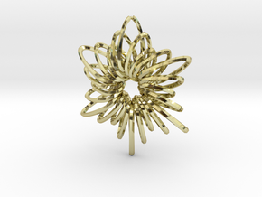 RingStar Twist 6 Points - 5cm in 18K Gold Plated