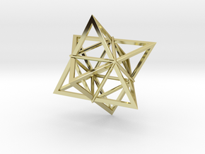 Merkaba Wire 1 5cm in 18K Gold Plated