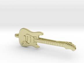 Guitar Tie Clip in 18K Gold Plated