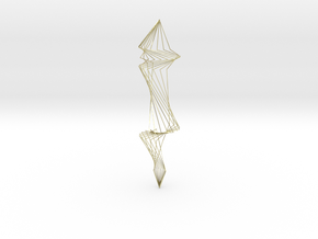 Spiral Silver Wire Earings in 18K Gold Plated
