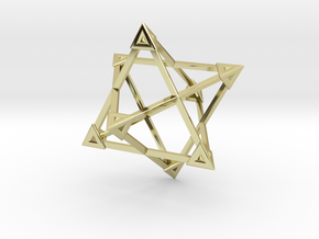 Merkaba Wire Pyramids Only 1 Caps 5cm in 18K Gold Plated