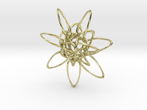 HexTwist 7 Points - 6cm in 18K Gold Plated