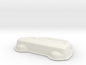 Car V10 in White Natural Versatile Plastic