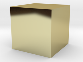 1x1x1 Cube in 18K Gold Plated