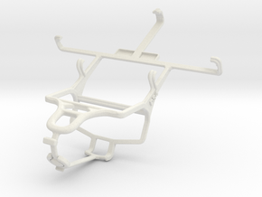 Controller mount for PS4 & Samsung I9100G Galaxy S in White Natural Versatile Plastic