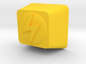 Pokemon Lightning Type Cherry MX Keycap in Yellow Processed Versatile Plastic