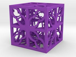 Box Hyper Fractal DR34 75mm in Purple Processed Versatile Plastic