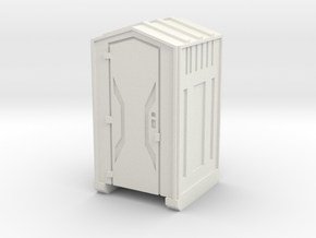 HO Scale Portable Toilet in White Natural Versatile Plastic