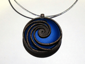 Pendant for Misfit Shine - Phi Wave in Stainless Steel