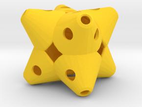 Dice159 in Yellow Processed Versatile Plastic