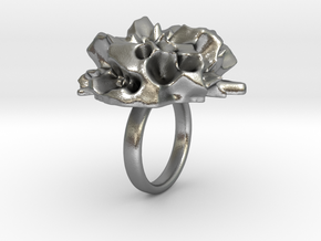 EUNICE Fractal Ring in Natural Silver
