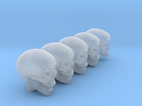 Undead, 5x Skull Conversion Kit (28mm Figures) 1 in Smooth Fine Detail Plastic