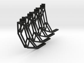 Waterstrider Landing Gear Flat Pack in Black Natural Versatile Plastic