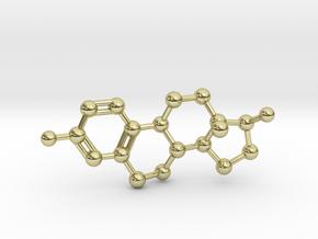 Estrogen (Estradiol) Molecule Pendant BIG in 18K Gold Plated