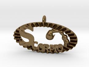 Scorpio Effect in Natural Bronze