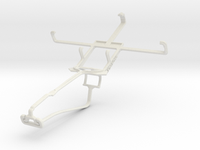 Controller mount for Xbox One Chat & Sony Xperia S in White Natural Versatile Plastic