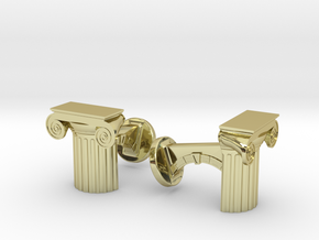 Ionic Cufflinks in 18K Gold Plated