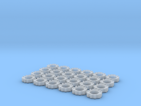 1/64 Wheel Weights Outers (24 Pieces) in Smooth Fine Detail Plastic