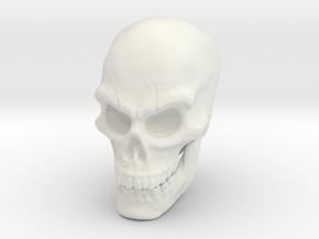 Pirate Skull in White Natural Versatile Plastic