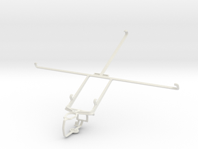 Controller mount for PS3 & Sony Xperia Tablet Z LT in White Natural Versatile Plastic