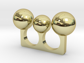3 Sphere Open Ring in 18K Gold Plated