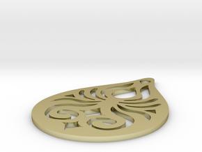 Manly Pendant in White Natural Versatile Plastic