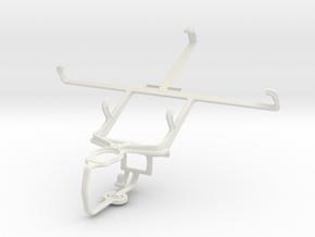 Controller mount for PS3 & Spice Mi-502 Smartflo P in White Natural Versatile Plastic