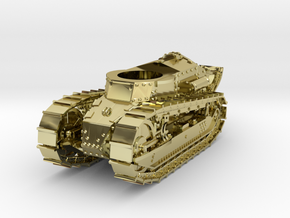 28mm M1917 Six Ton Tank (Hull) in 18K Gold Plated