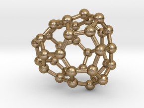 0031 Fullerene c36-03 c1 in Polished Gold Steel