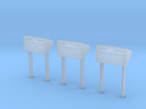 3X Brievenbussen PostNLHO in Smooth Fine Detail Plastic