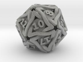 'Twined' Dice D20 Gaming Die (24 mm) in Metallic Plastic